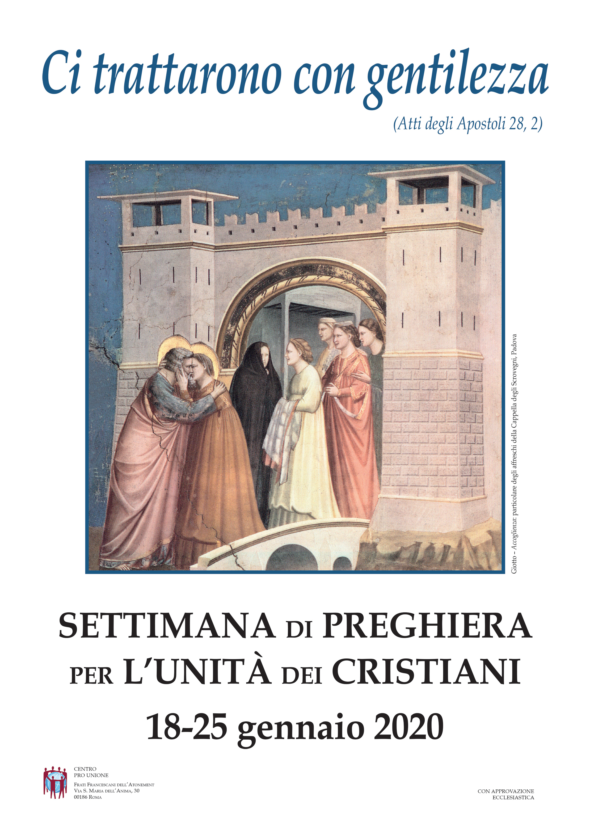 Settimana di Preghiera per Unità dei Cristiani