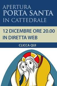 Banner diretta Apertura Porta Santa in Cattedrale