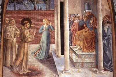 San Francesco e il sultano al-Kamil (affresco di Benozzo Gozzoli)