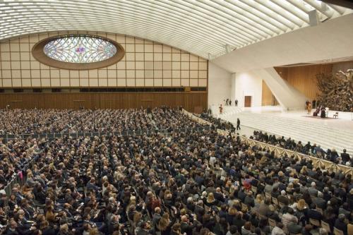 Nell'Aula Paolo VI l'udienza con Confindustria (Giorgio Onorati/Ansaweb)