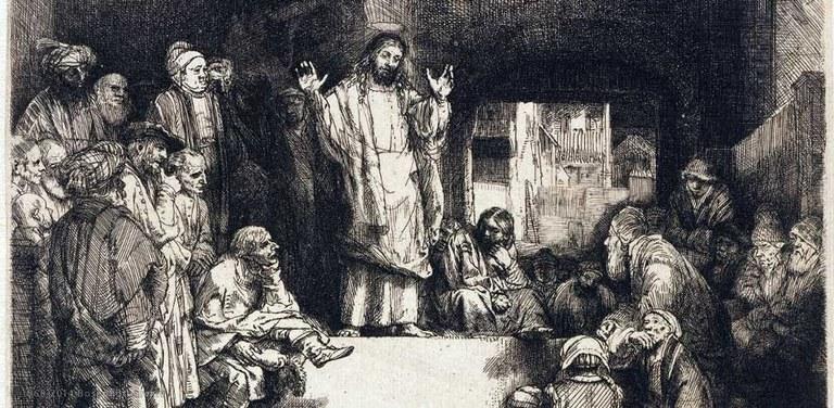Rembrandt Harmensz. van Rijn, Gesù che insegna, 1657 circa, Rembrandthuis, Amsterdam