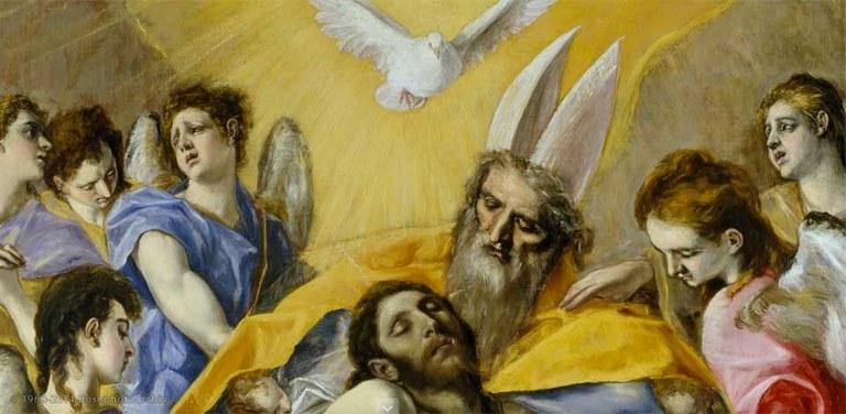El Greco, Trinità (particolare), 1577 - 1579, olio su tela, Museo del Prado