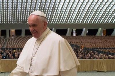 Papa Francesco in Aula Paolo VI o Aula Nervi