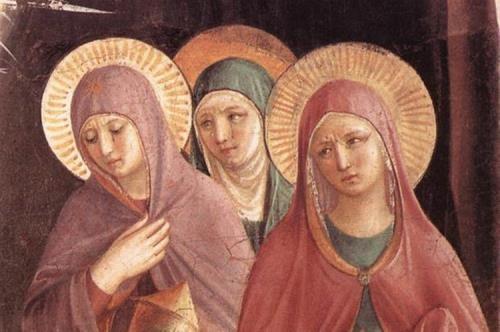 Benozzo Gozzoli, Donne al sepolcro, particolare, 1440-1441, Firenze, Convento di San Marco